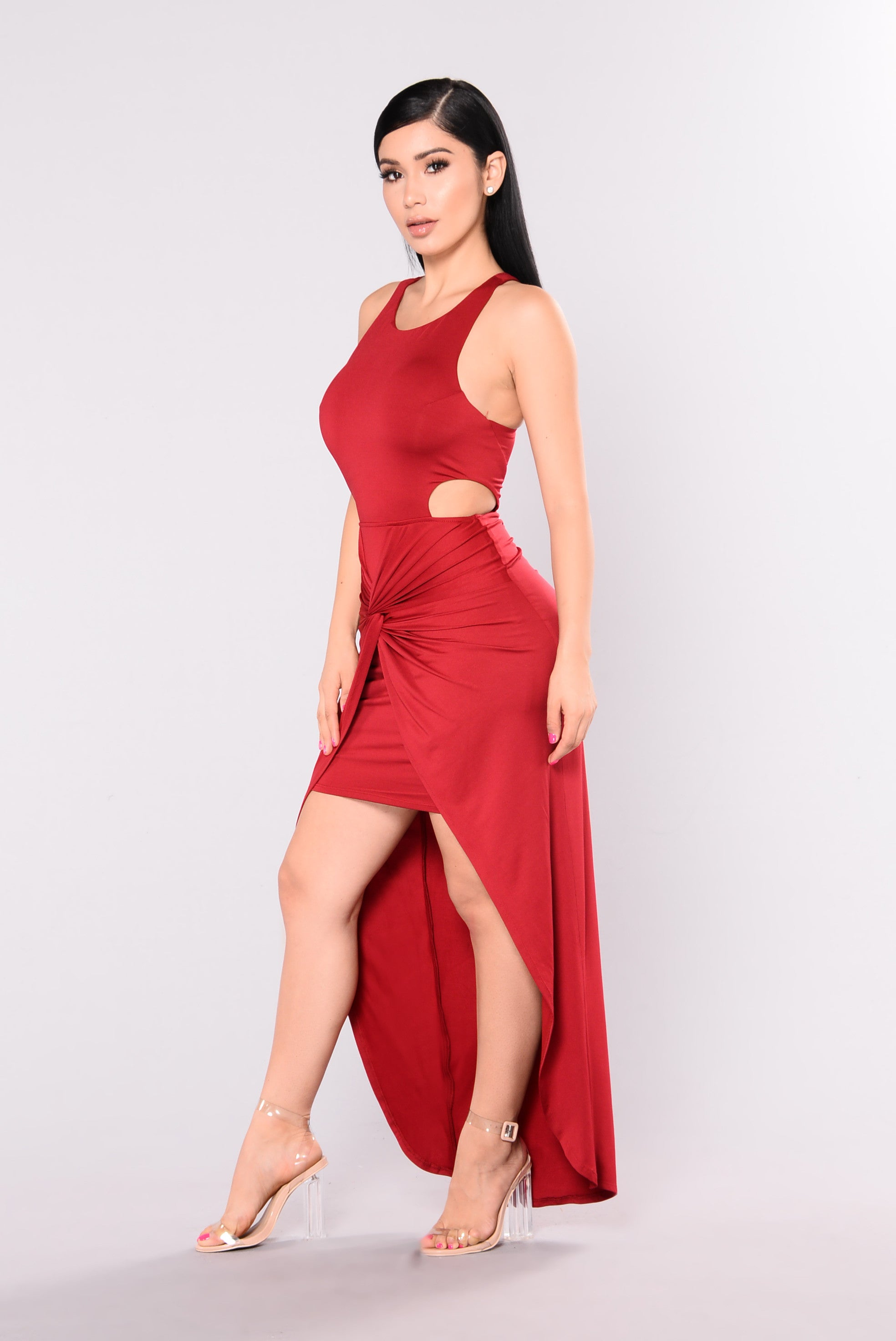 Aillse Maxi Dress - Red Red Dresses Om