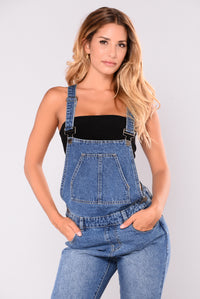 Vivienne Distressed Jumpsuit - Blue