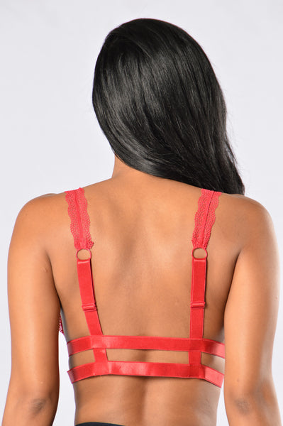 Lust Bralette - Red