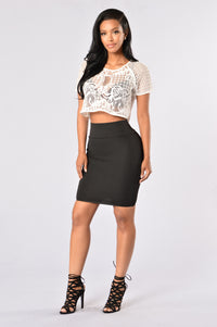 Made For Me Skirt - Black Angle 2