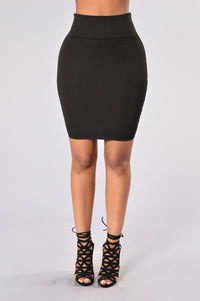 Made For Me Skirt - Black Angle 1