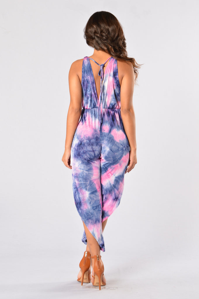 Vibe Out Jumpsuit - Pink