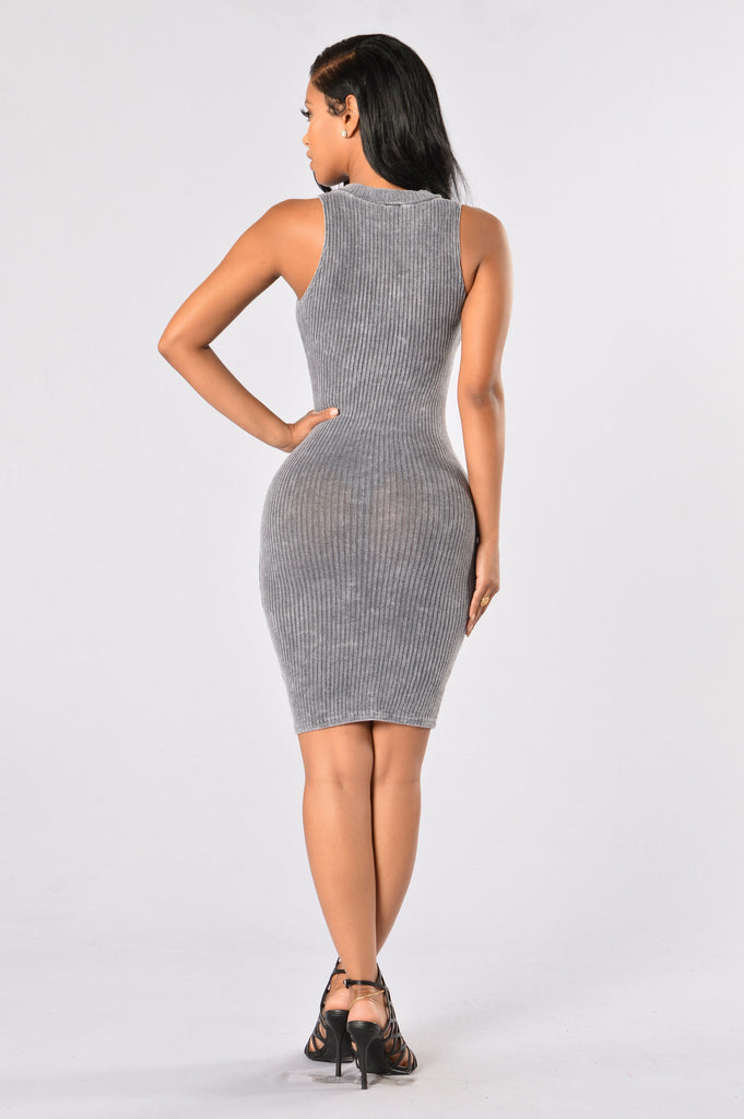 Talk the Talk Dress - Grey