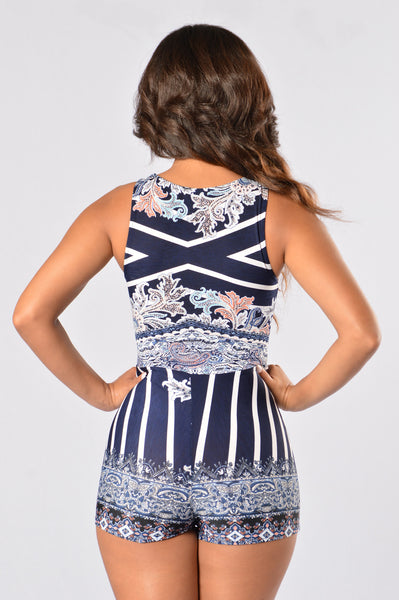 Free Style Romper - Navy