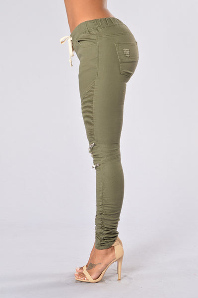 Born This Way Pants - Olive