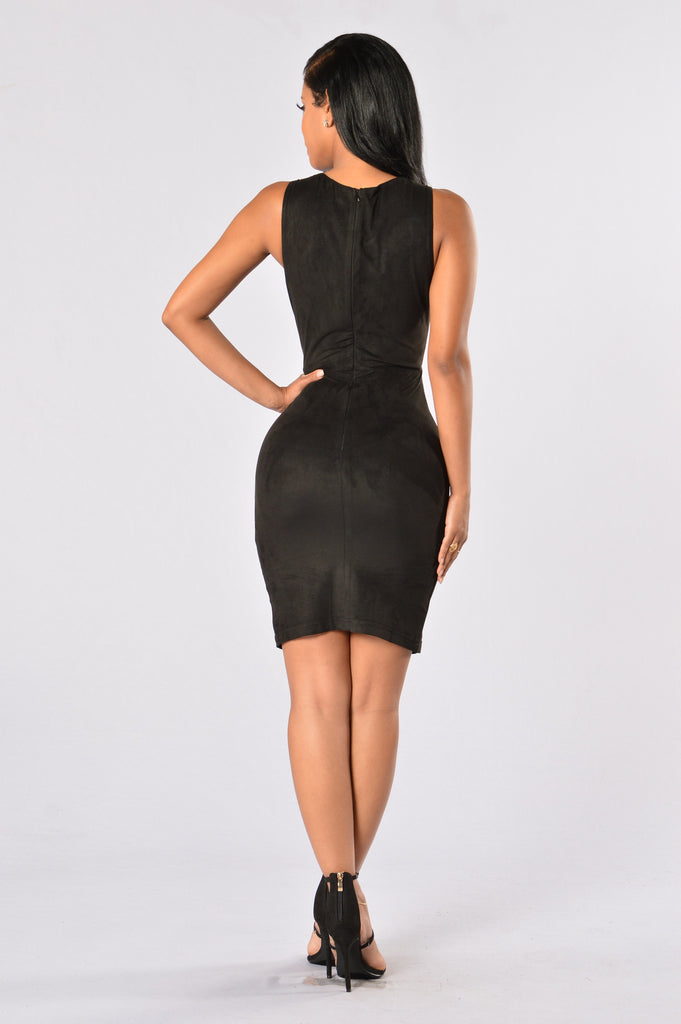 Velveteen Dress - Black