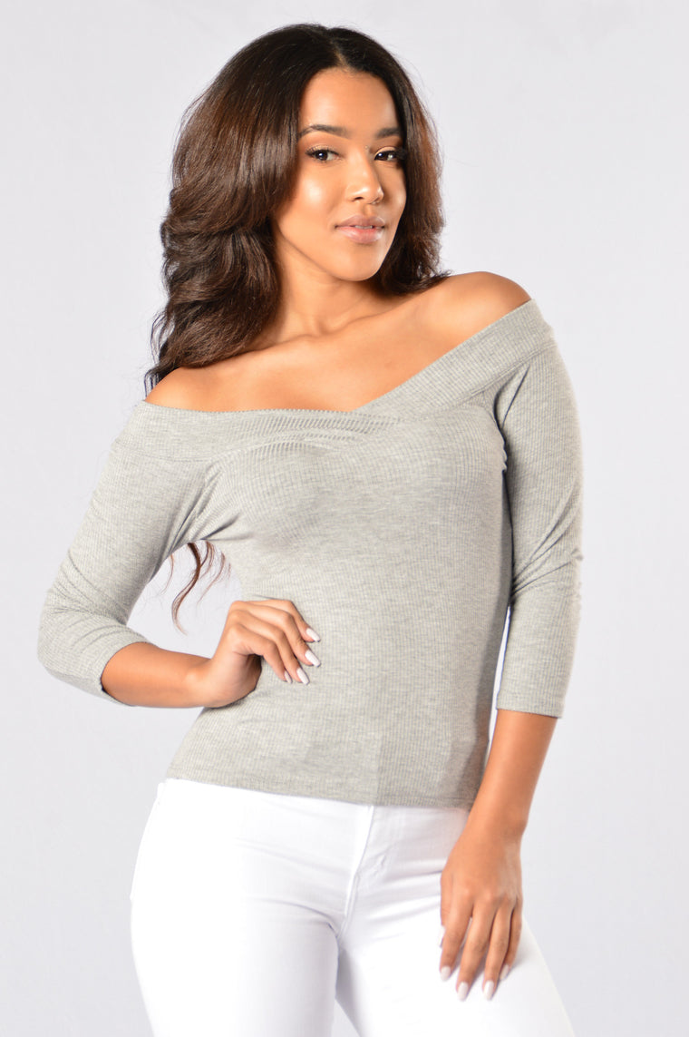 Hang with Me Top - Heather Grey