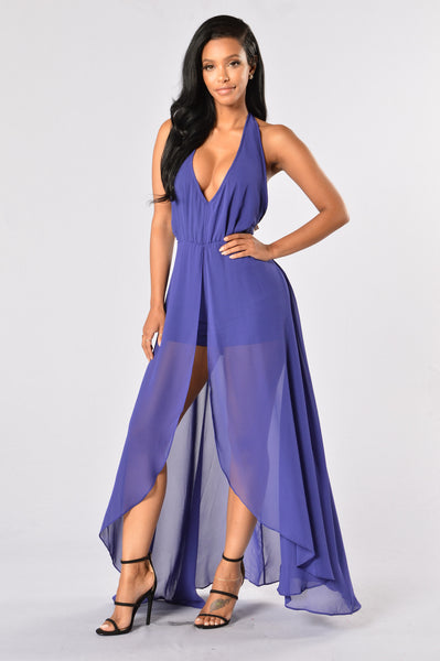 Easy Flow Romper - Purple