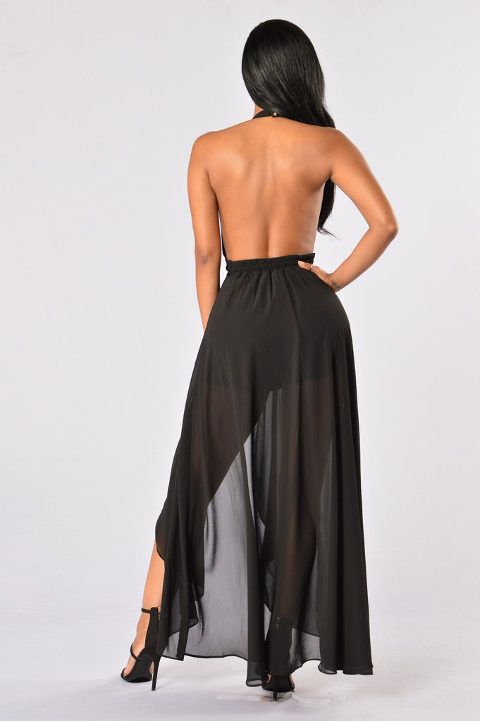 Easy Flow Romper - Black