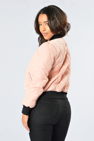 Freestyle Bomber Jacket - Blush