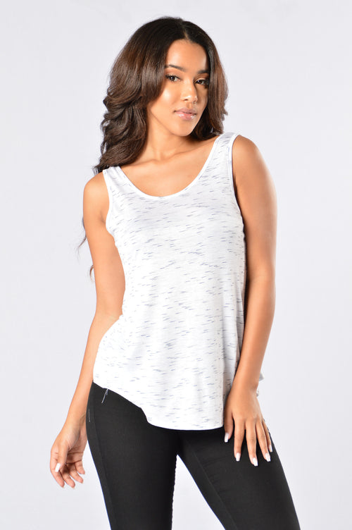Straight Chillin Tank - White