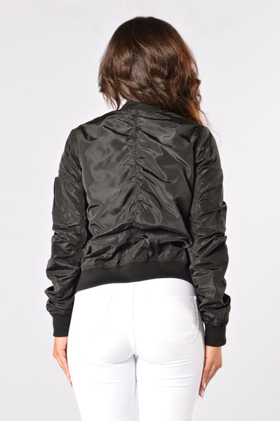 Picture Me Rollin' Jacket - Black