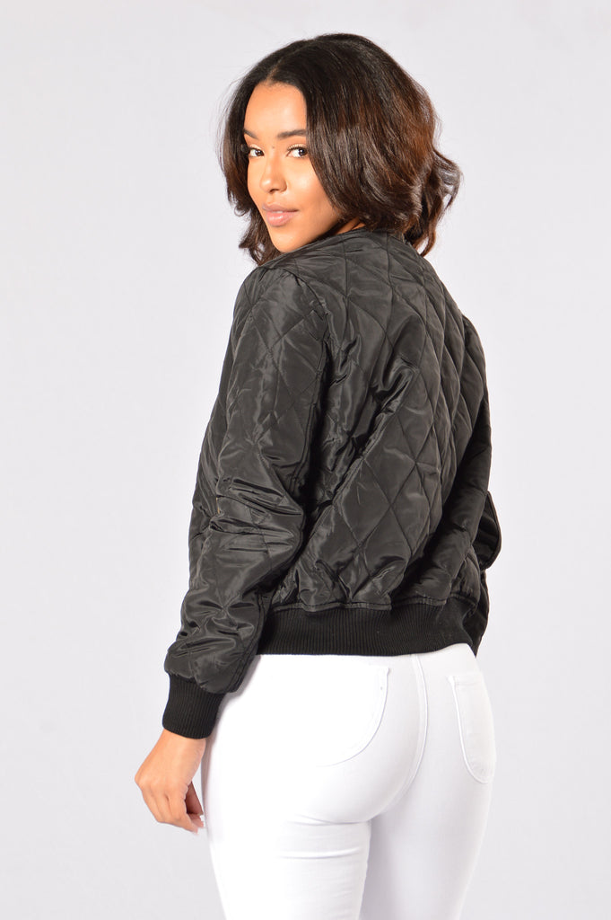 Freestyle Bomber Jacket - Black
