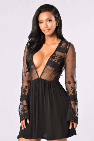 Starless Night Dress - Black