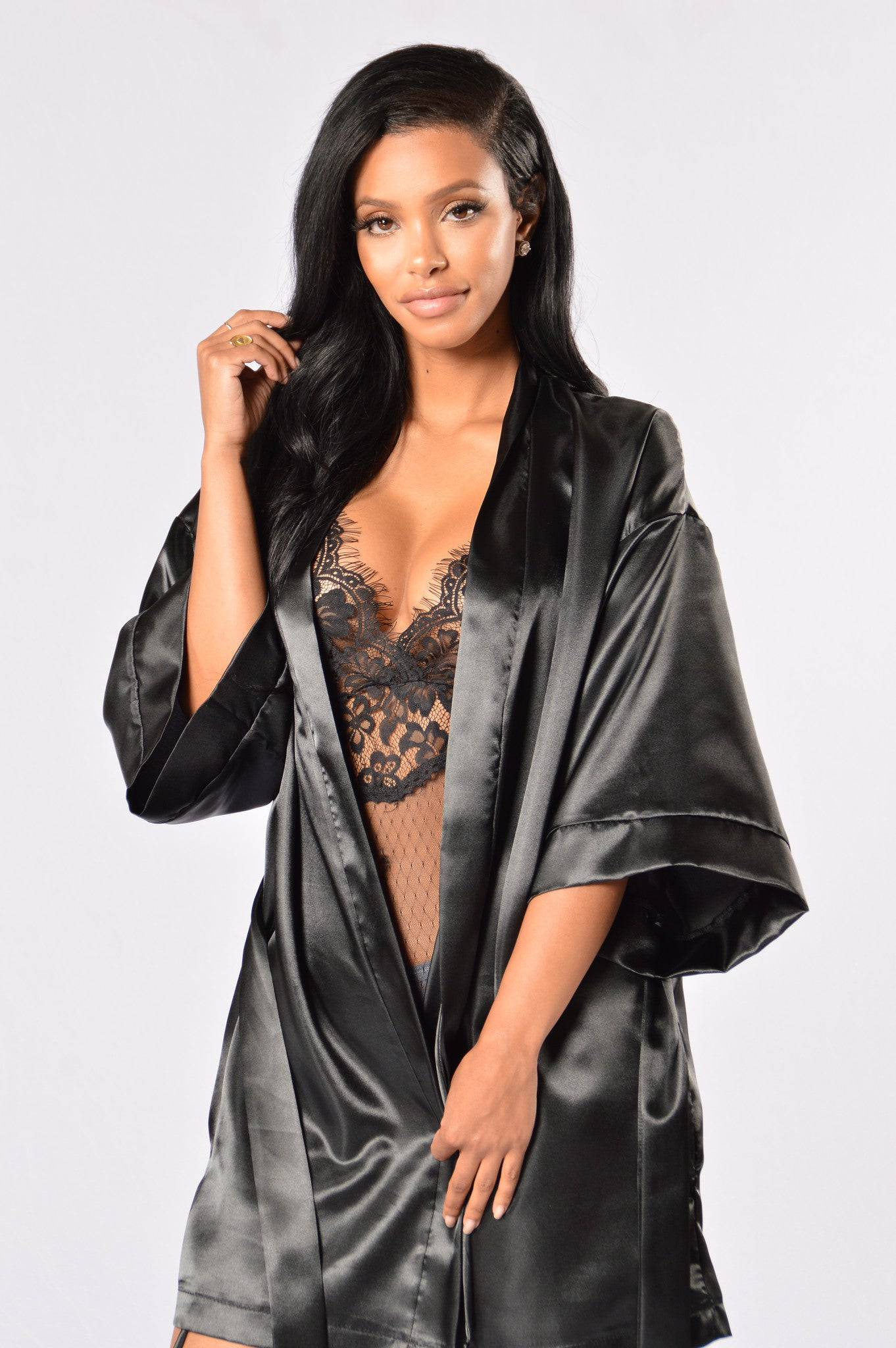 7643b8a275 Lotus Robe - Black