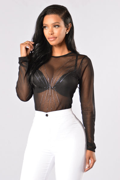 Burst Bodysuit - Black