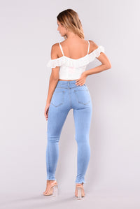 Clara Belle Crop Top - Ivory