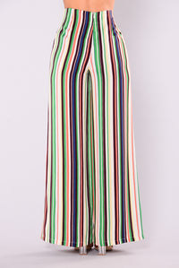 Sao Paulo Striped Pants - Green Multi