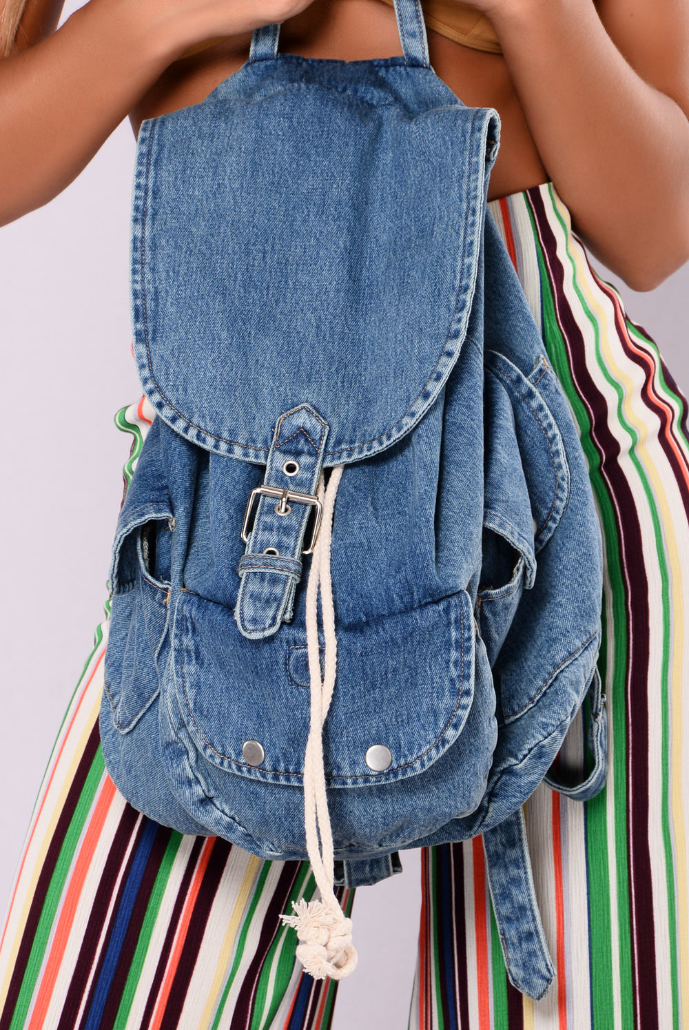 Textbook Blues Denim Backpack - Denim