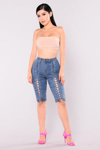 Rylee Lace Up Shorts - Medium