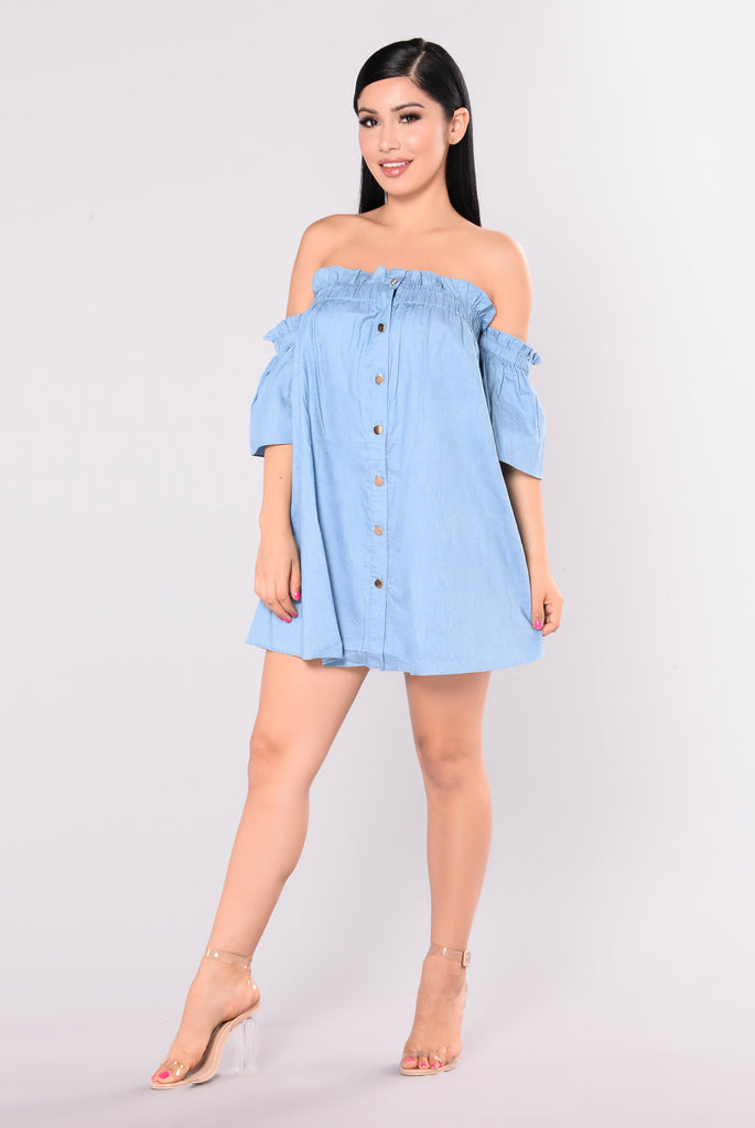 Rags And Riches Dress - Denim