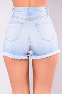 Summer Loving High Waisted Shorts - Light