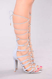 All Around Lace Up Heel - Blue