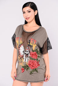 Audrey Rock Top - Olive