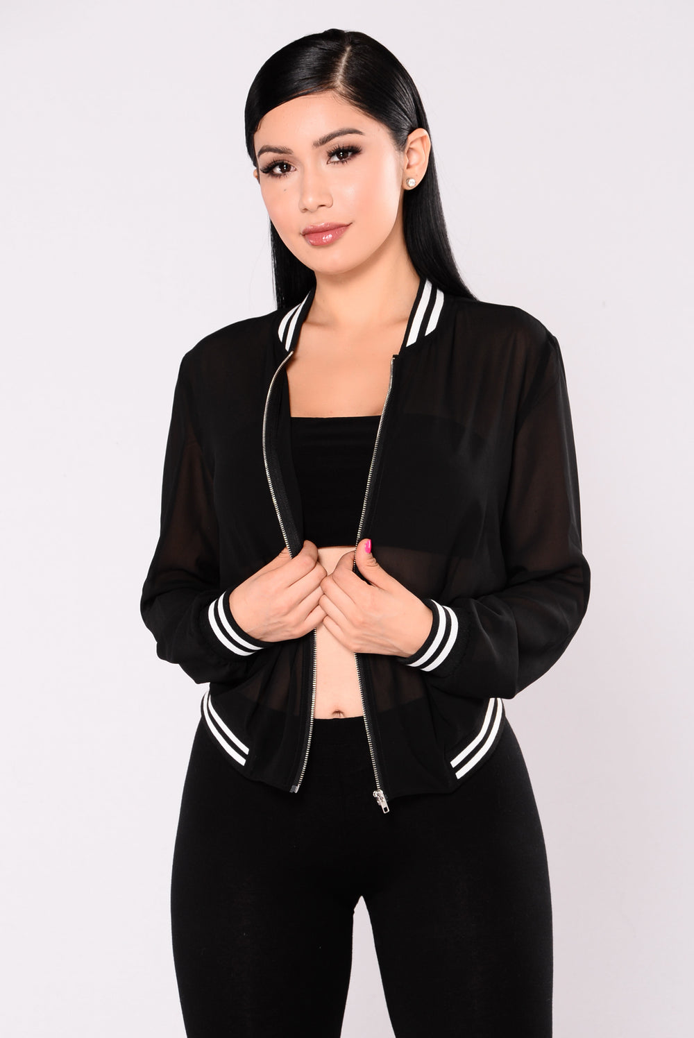 Good Game Bomber Jacket - Black