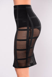 All Meshed Up Skirt - Black