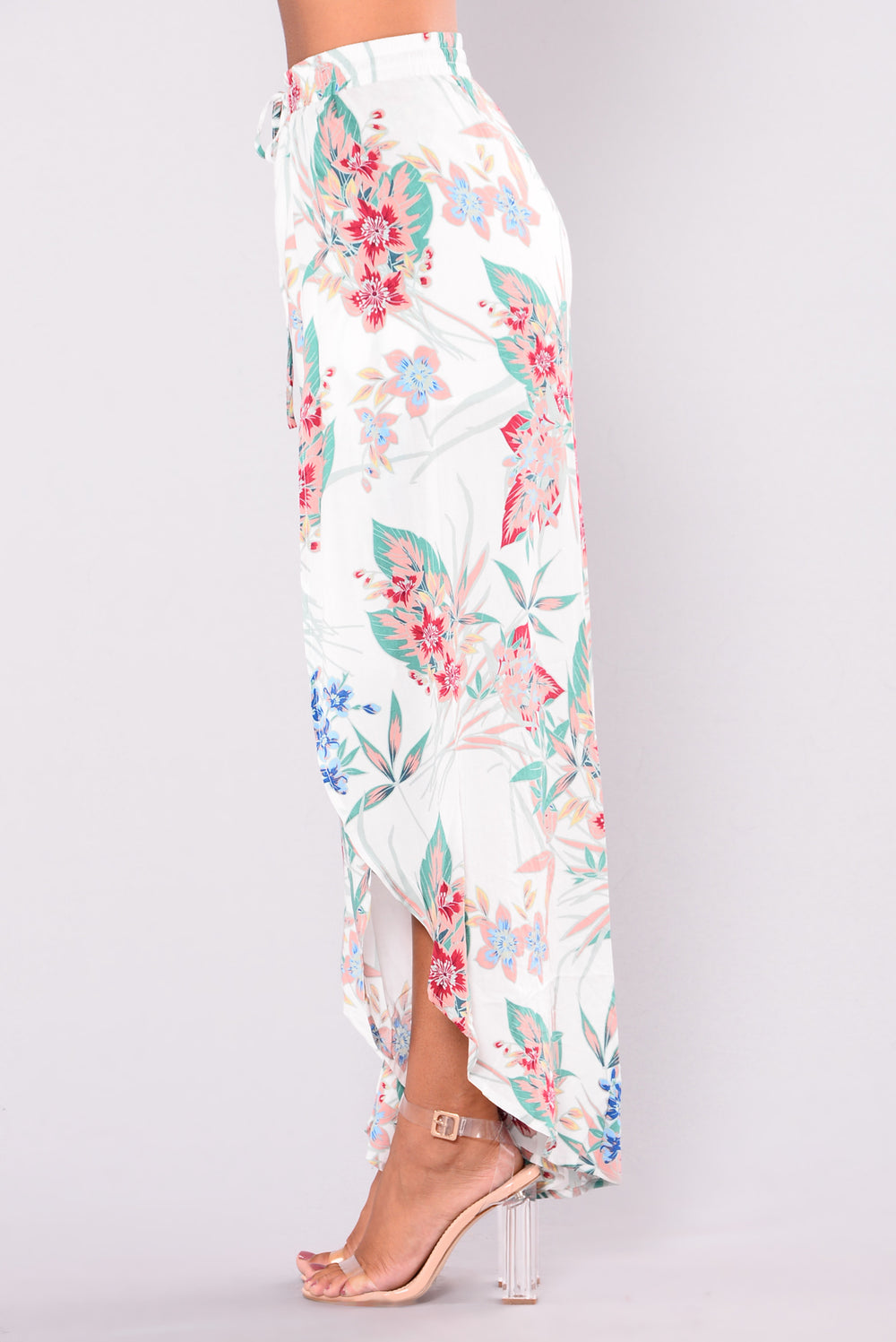 Forbidden Flower Printed Pants - Ivory Multi