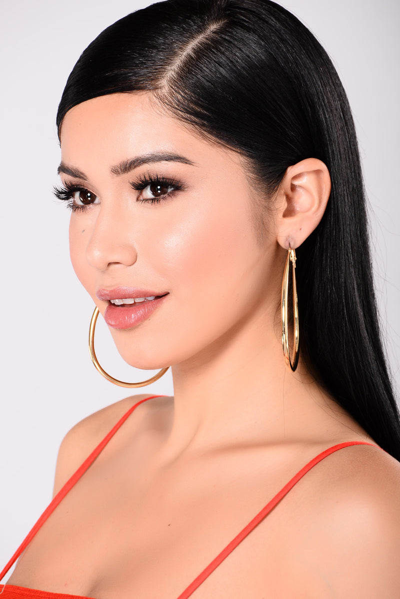 Mine Hoop Earrings - Gold
