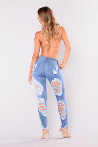 Walk It Out Distressed Jeans - Medium Angle 5