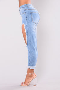 Publicity Boyfriend Jeans - Medium Light