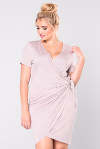 Presley Wrap Dress - Mauve