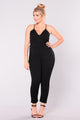 Llona Open Back Jumpsuit - Black