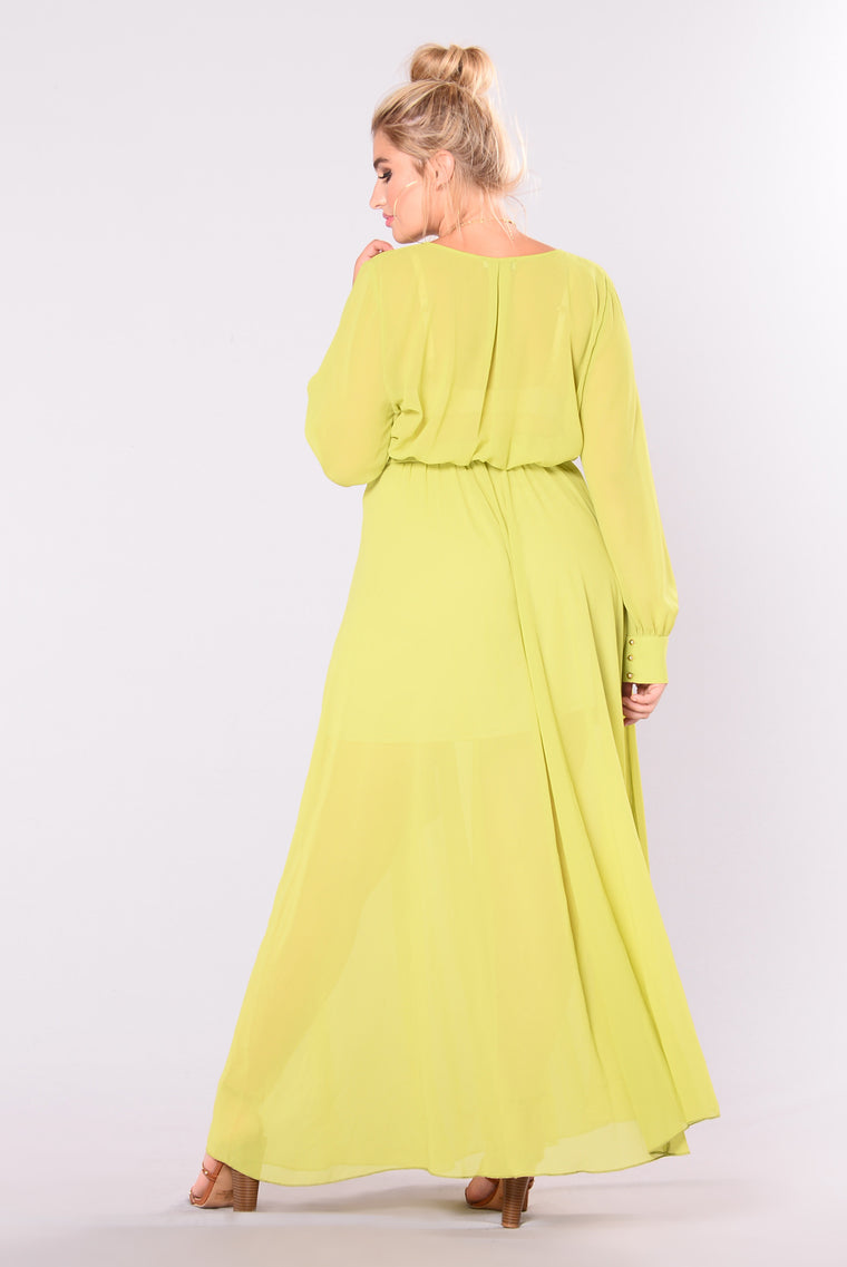 Vickie Maxi Dress - Lime