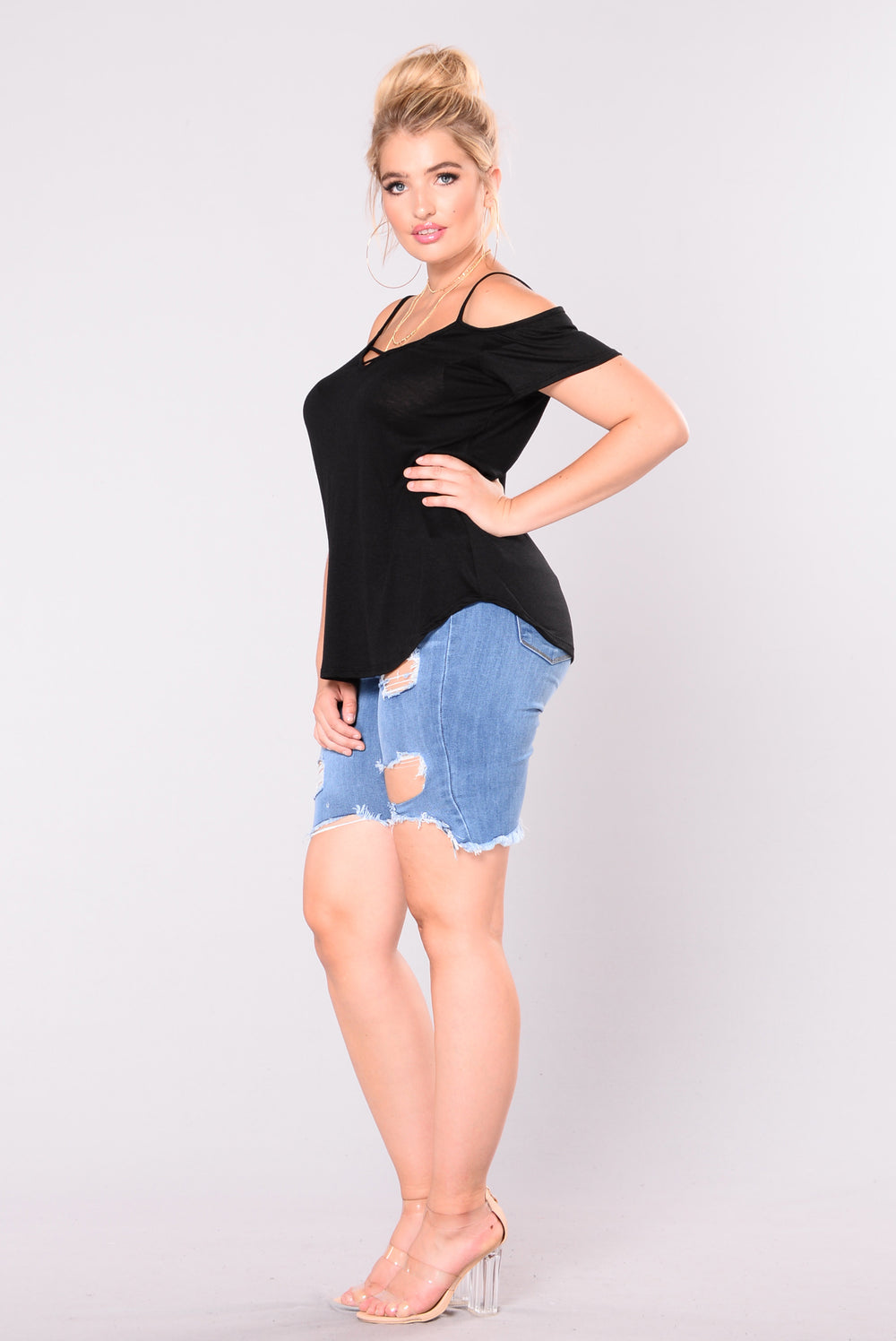 The Finale Off Shoulder Top - Black