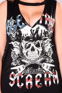 Electric Scream Tank Top - Black