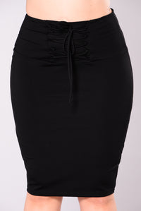 Goody Good Lace Up Skirt - Black