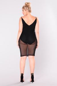 Goodnight Beautiful Mesh Dress - Black