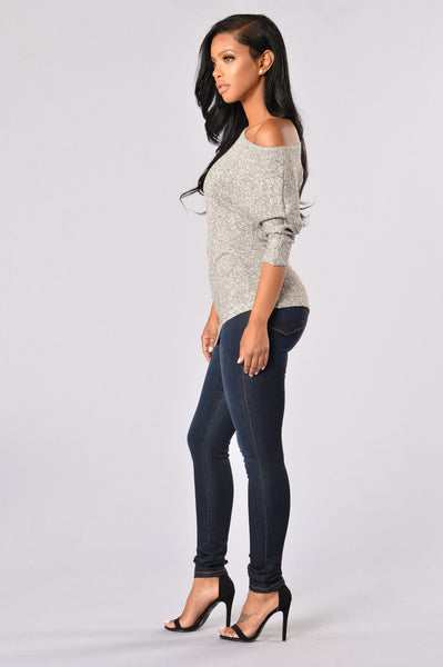 Balancing Act Sweater - Grey