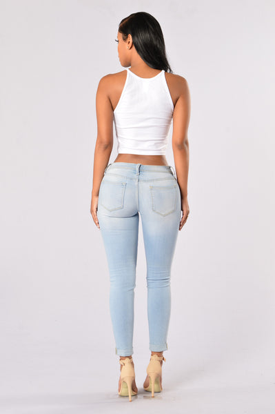 One Slit Wonder Jeans - Light