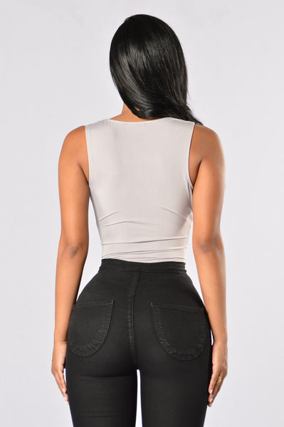Dig Deep Bodysuit-Light Grey