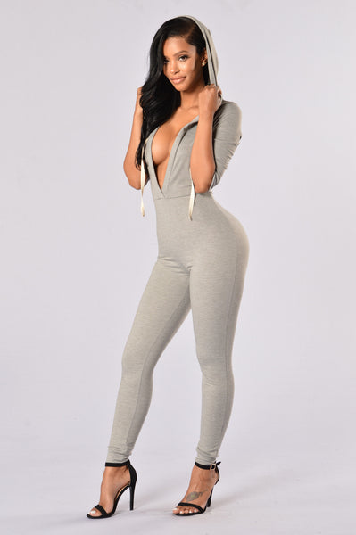 Hooligan Jumpsuit - Heather Grey