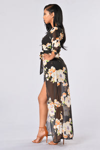 Geisha House Romper - Black
