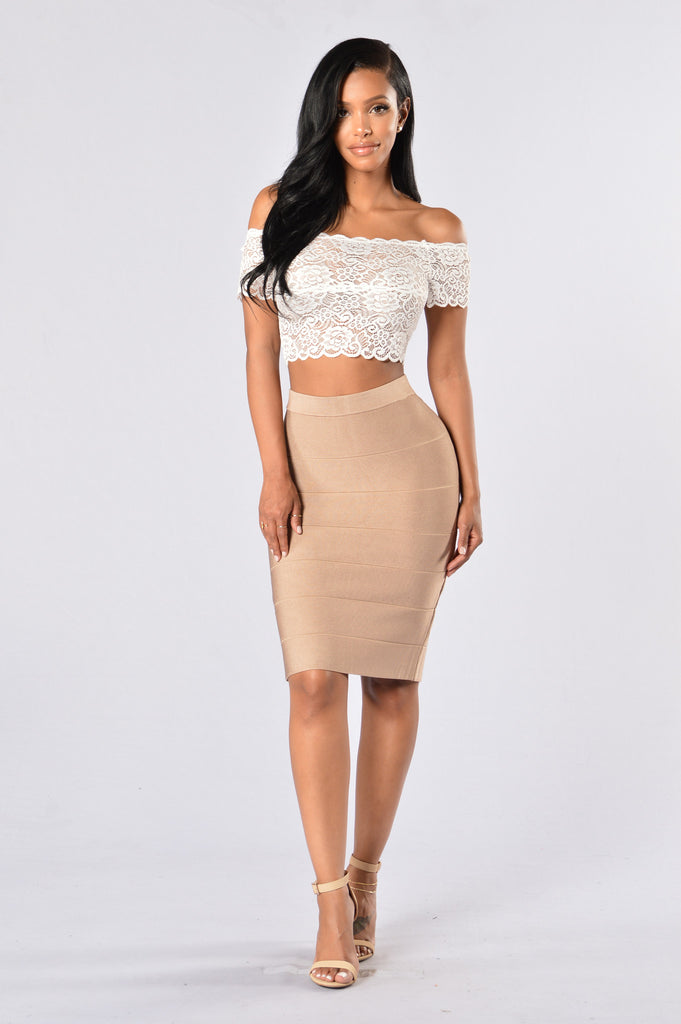 Graceful Crop Top - White