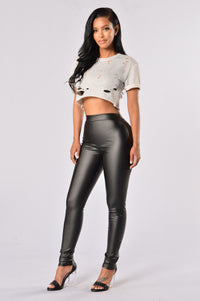 Straight Outta Nova Leggings - Black