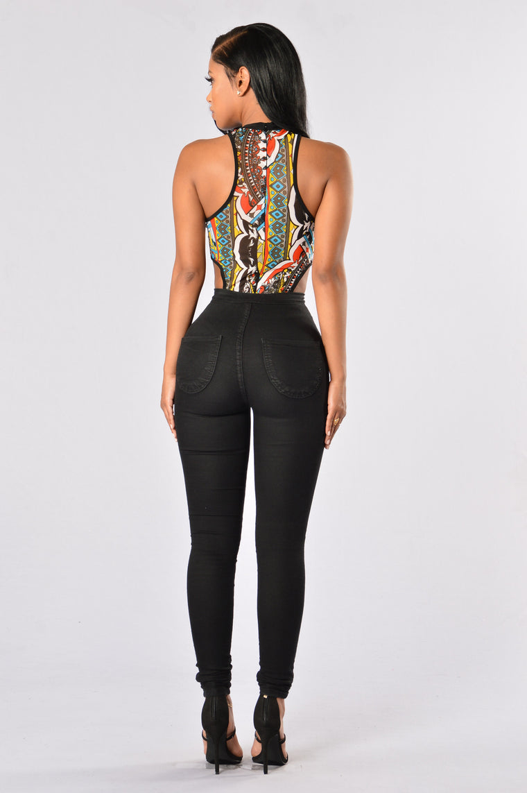 Queen of Clubs Bodysuit - Multi