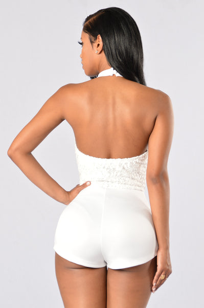 Next Round Romper - White